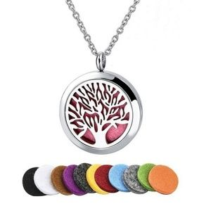 Tree Of Life  Essential Oil Necklace Set